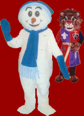 Snowman and Lion costumes